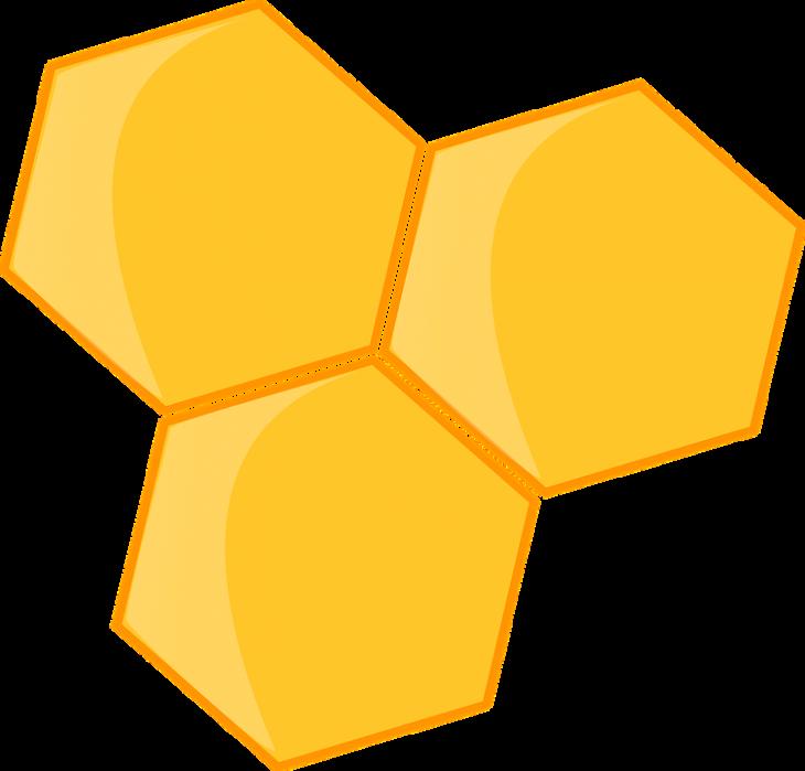 Tri heksagona.